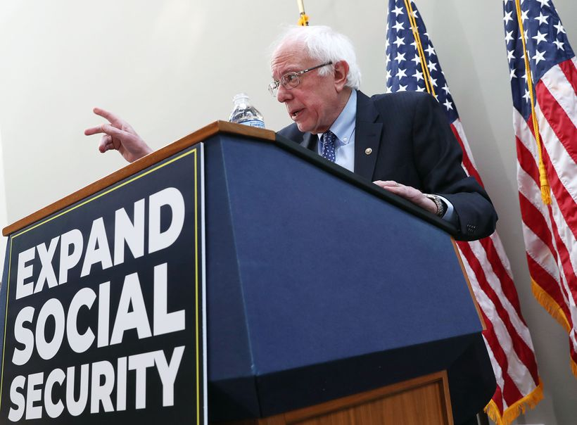 Senator Bernie Sanders, Independent of Vermont, wants to expand Social Security, even as the program will pass an omnious tipping point.
