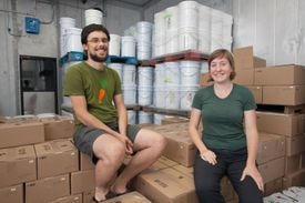 Husband and wife Dan Rosenberg and Addie Rose Holland own Real Pickles in Greenfield.