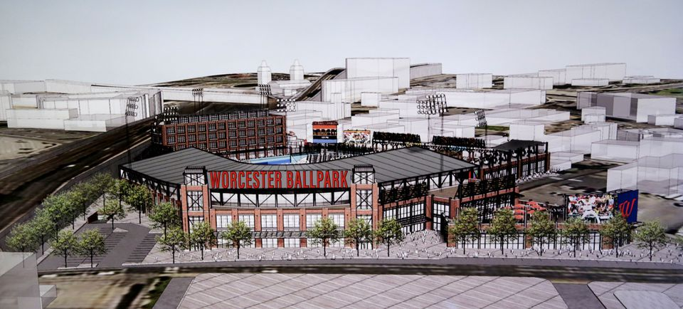 Things are looking up in Worcester, which is building a ballpark to house the Red Sox' Triple A team.