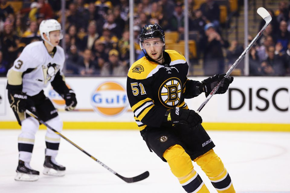 Ryan Spooner has nine goals and 19 assists for 28 points, fourth on the Bruins.