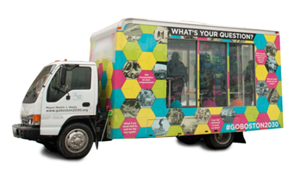 The Question Truck toured 15 neighborhoods this winter.