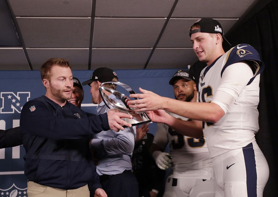 Rams coach Sean McVay and quarterback Jared Goff have been together for just two seasons.