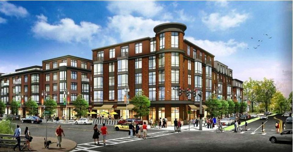 A rendering of the Washington Place project, by developer Robert Korff. He is a major Washington Street stakeholder.