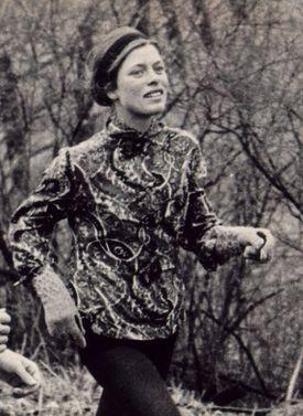 Gibb ran along the Marathon route in 1967.