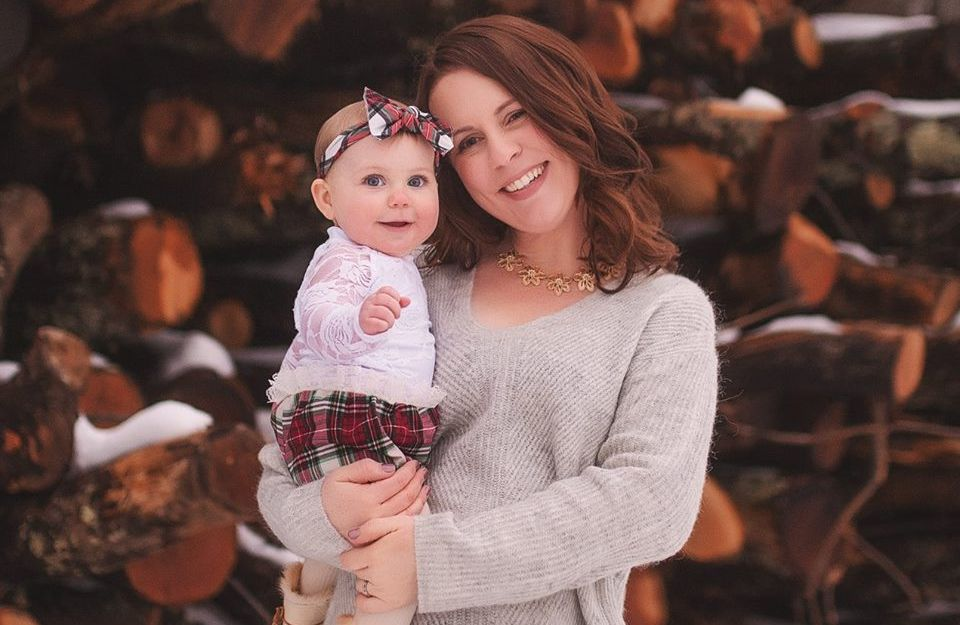 Sarah Buckley Friedberg, a 35-year-old mother of three, with her youngest.