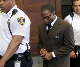 Shaquille Brown entered a court room for a hearing at Suffolk Superior Court.