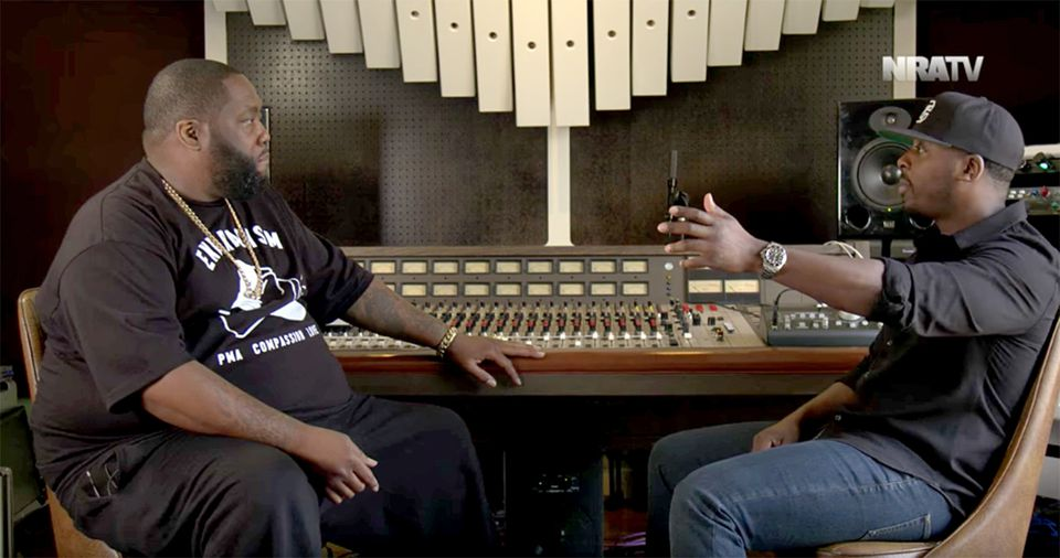 "The video, featuring Killer Mike (left) was billed by the National Rifle Association as ""The Gun Conversation You Need To See."""