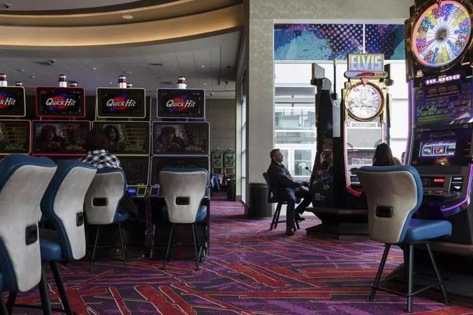 Inside the casino at Resorts World Catskills in Monticello, N.Y., in March 2018.