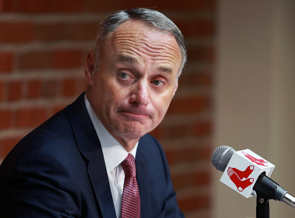 Baseball commissioner Rob Manfred addressed the allegations against the Red Sox before Tuesday night's game.