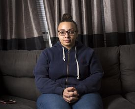 Jena Benson, 20, a Dunkin' Donuts worker, says a boss and co-worker harassed her.