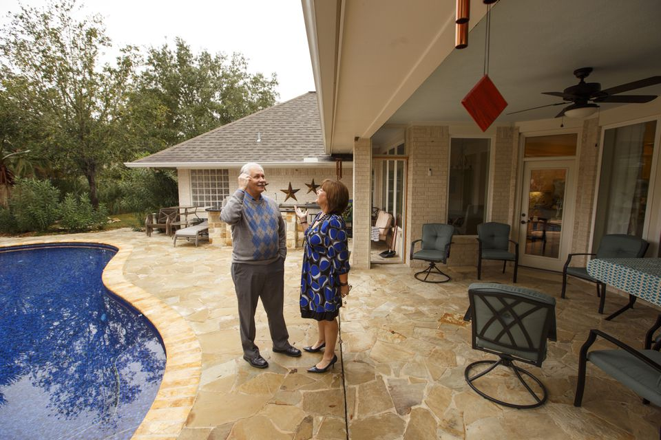Marilyn Santiesteban and Kent Portney's home in Texas was a third of the price as their home in Boston, and had 600 more square feet and a pool.