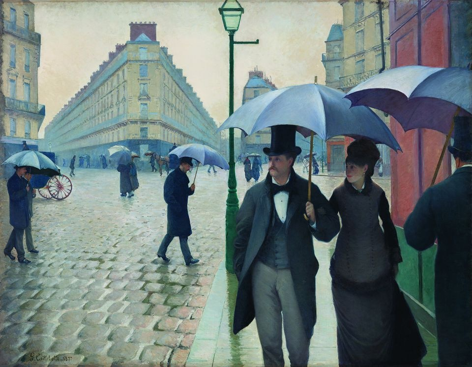 """Gustave Caillebotte's """"Paris Street, Rainy Day."""""""