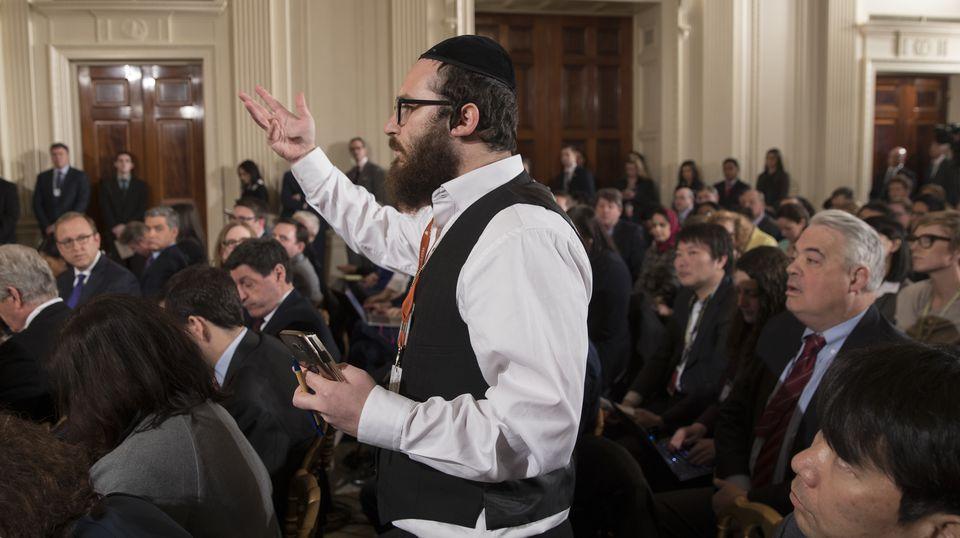 Jake Turx, a Jewish reporter for Ami Magazine, asked President Donald Trump a question on Feb. 16.
