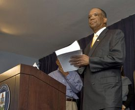 Ewart Brown allegedly directed much of Bermuda's health-care business to Lahey.
