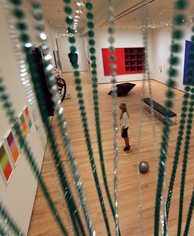 One of the galleries in the Museum of Fine Arts' new Linde Family Wing for Contemporary Art, which opened in mid-September.