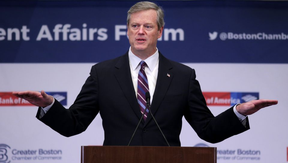 Governor Baker made housing his topic at the Greater Boston Chamber of Commerce breakfast.