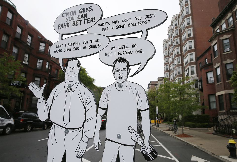 Eight cutouts were placed throughout the Back Bay.