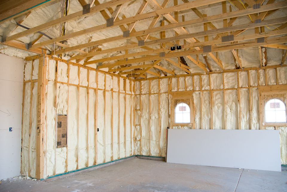 A Home Sealed With Spray Foam Insulation
