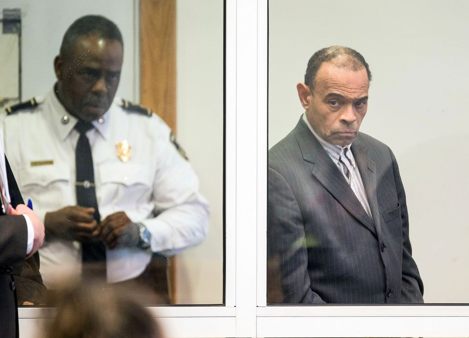 Shaun Harrison was arraigned in Roxbury Municipal Court.
