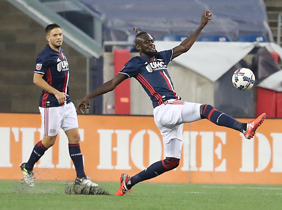 Kei Kamara (right) and the Revolution have been in control at home, but not on the road.