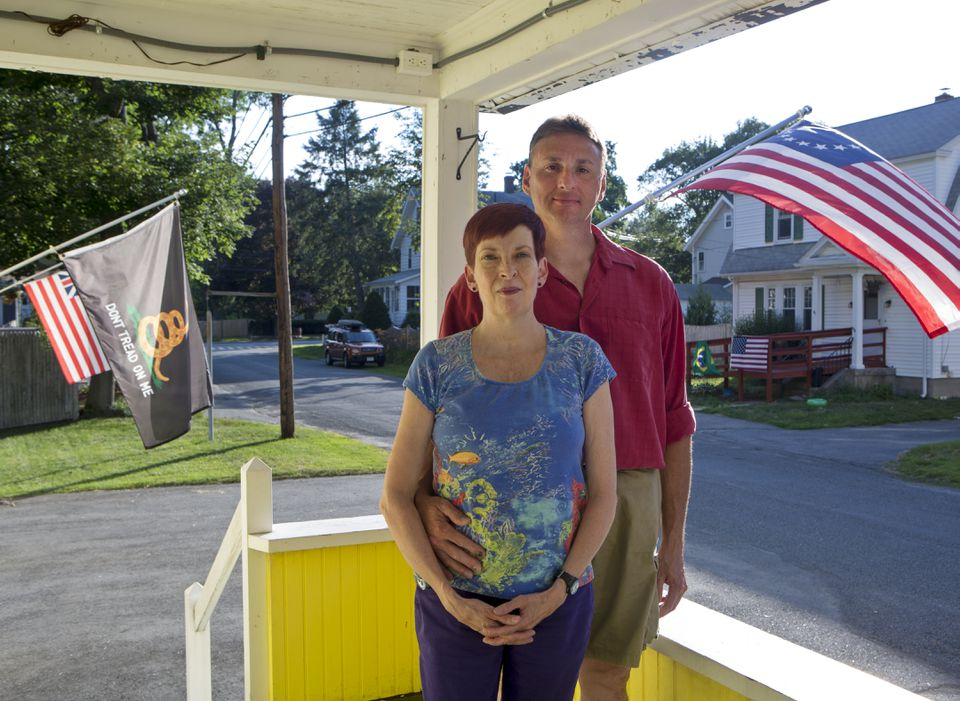 """""""If I didn't have this medicine I'd probably be on oxygen all the time,"""" Cora Higson (with husband Bob at their Framingham home) says of Tracleer, a drug that lowers blood pressure in the lungs, easing Higson's pulmonary hypertension."""