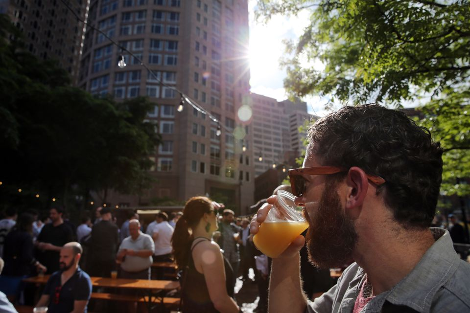 The Trillium outdoor beer garden on the Rose Kennedy Greenway.