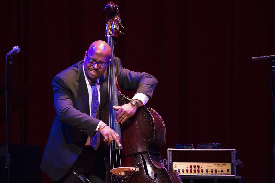 Bassist Christian McBride at Sanders Theater.
