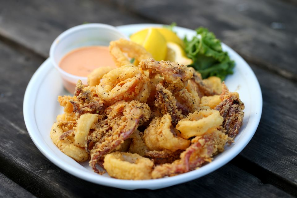 Among the dishes served at Twin Seafood is the fried calamari appetizer.