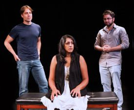 """From left: Casey Preston, Payal Sharma, and Michael Dwan Singh star in """"Shiv,"""" part of Company One's """"The Displaced Hindu Gods Trilogy."""""""