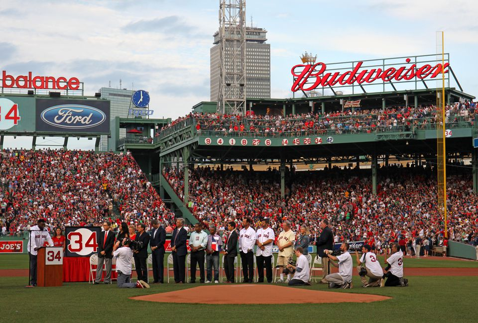 The Budweiser sign over the right field deck will be torn down and replaced with a Sam Adams marquee.