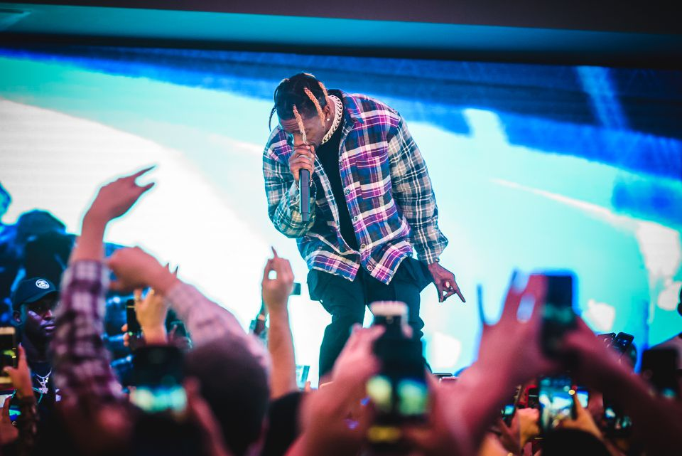 Travis Scott performs at The Grand on Sunday, Dec. 2.