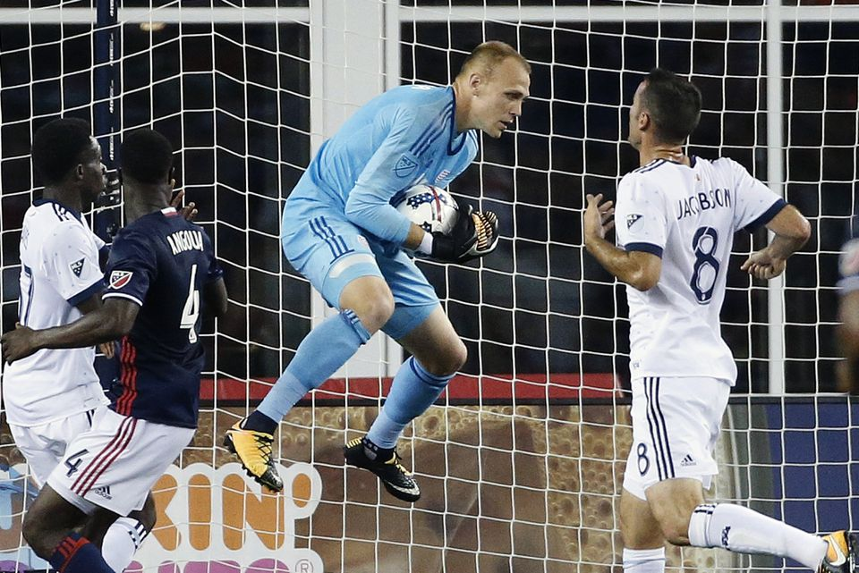 Revolution goalie Cody Cropper shut out the Vancouver Whitecaps on Aug. 12 at Gillette Stadium.