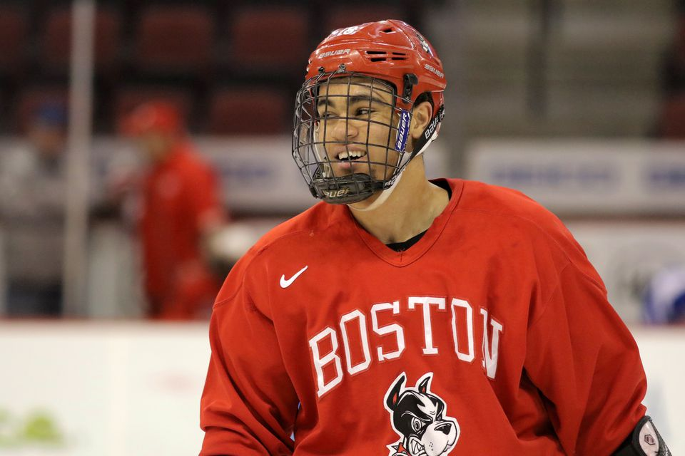 Big winger Jordan Greenway and the Terriers face UMass in the first round of the Hockey East playoffs.