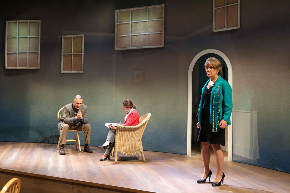 """From left: David DeBeck as Ian, Angie Jepson as Dr. Teller, and Debra Wise as Juliana in Sharr White's """"The Other Place."""""""