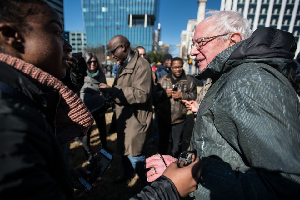 Senator Bernie Sanders was in Columbia on Martin Luther King Jr. Day.