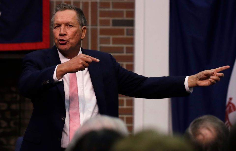 Ohio Governor John Kasich spoke Tuesday during an appearance at New England College in Henniker, N.H.