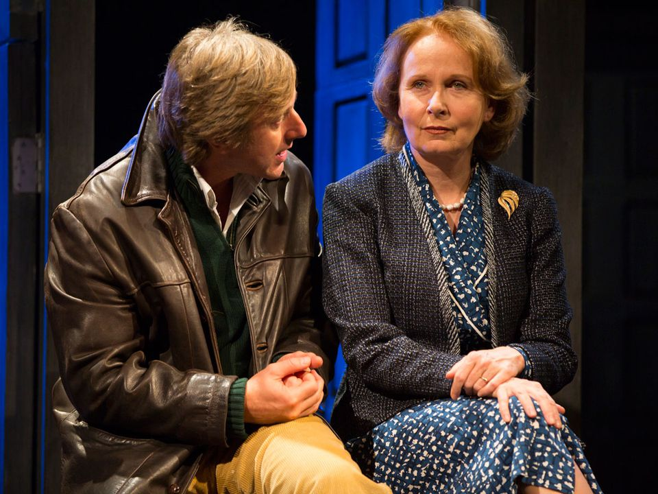 """Jake Weber plays a  double agent and Kate Burton a spymaster in the late 1980s in """"Hapgood,"""" the Tom Stoppard espionage thriller at the Williamstown Theatre Festival."""