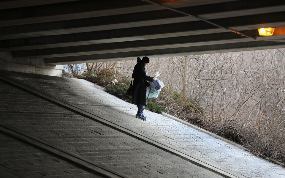 A 51-year-old man who asked to be identified as Steve S. said he has been homeless for about four years and has stayed under the Route 2 bridge.