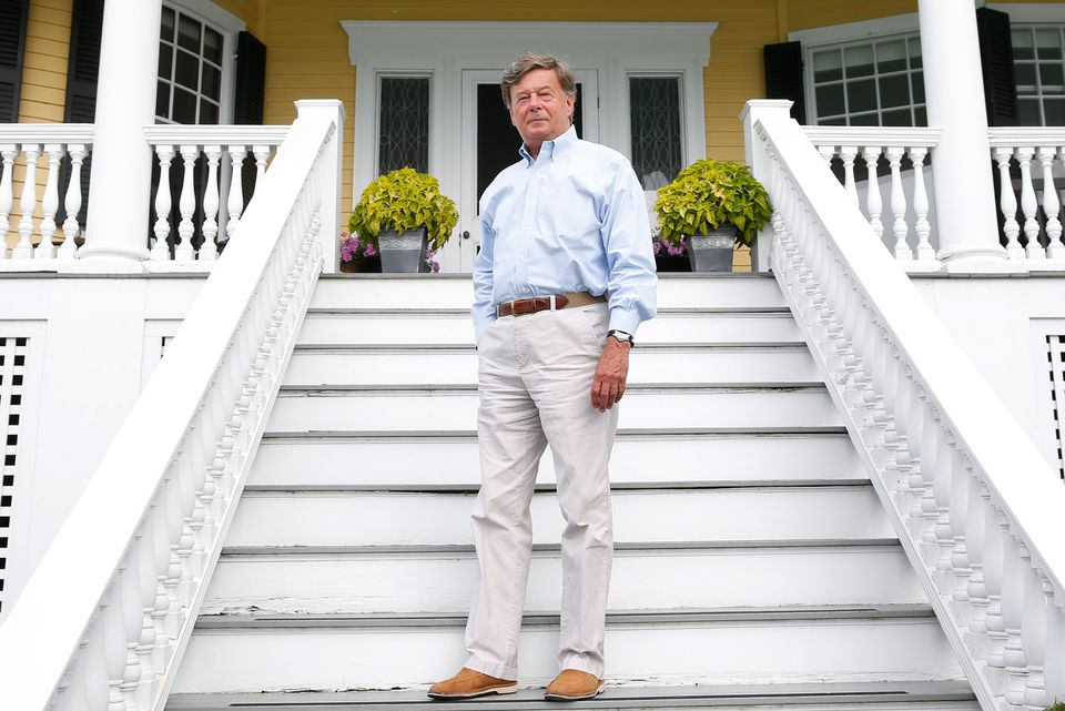 Retired Genzyme chief executive Henri Termeer posed for a portrait at his office in Marblehead.