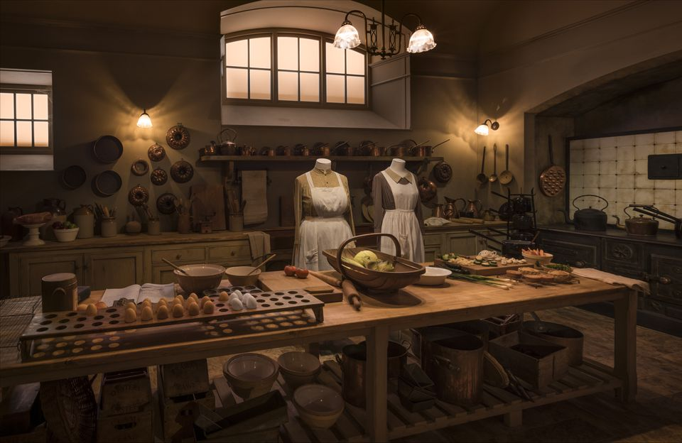 """Mrs. Patmore's kitchen is among the sets featured in """"Downton Abbey: The Exhibition,"""" coming to Boston June 15."""
