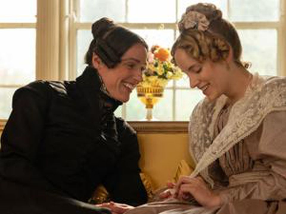 """Suranne Jones (left), shown with Sophie Rundles, portrays the real-life Anne Lister in """"Gentleman Jack."""""""