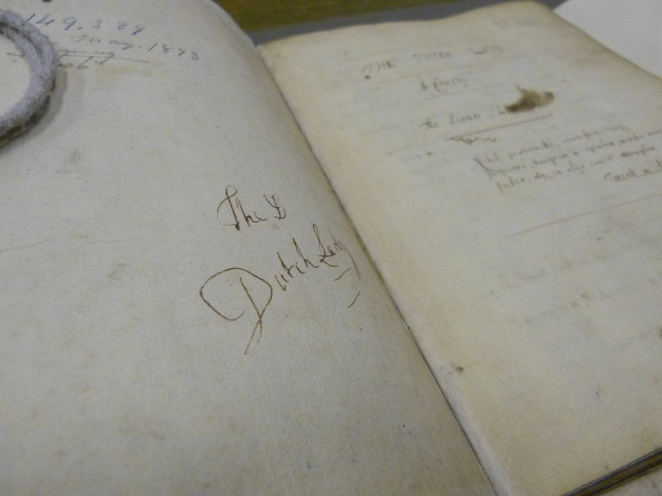 "A manuscript of the comedy ""The Dutch Lady."""