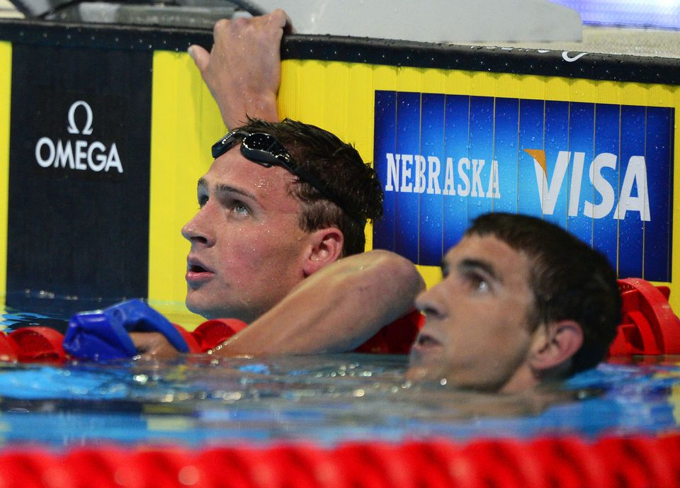 Although Ryan Lochte (left) finished ahead of Michael Phelps in the 400-meter individual medley race, both were winners, claiming the first two spots on the Olympic swim team.