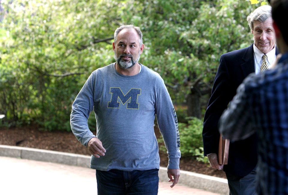 Kenneth Brissette left the Moakley federal courthouse in Boston.