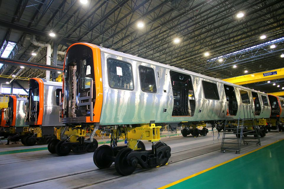 The first new Orange Line cars from the CRRC factory in Springfield are expected to enter service this year.