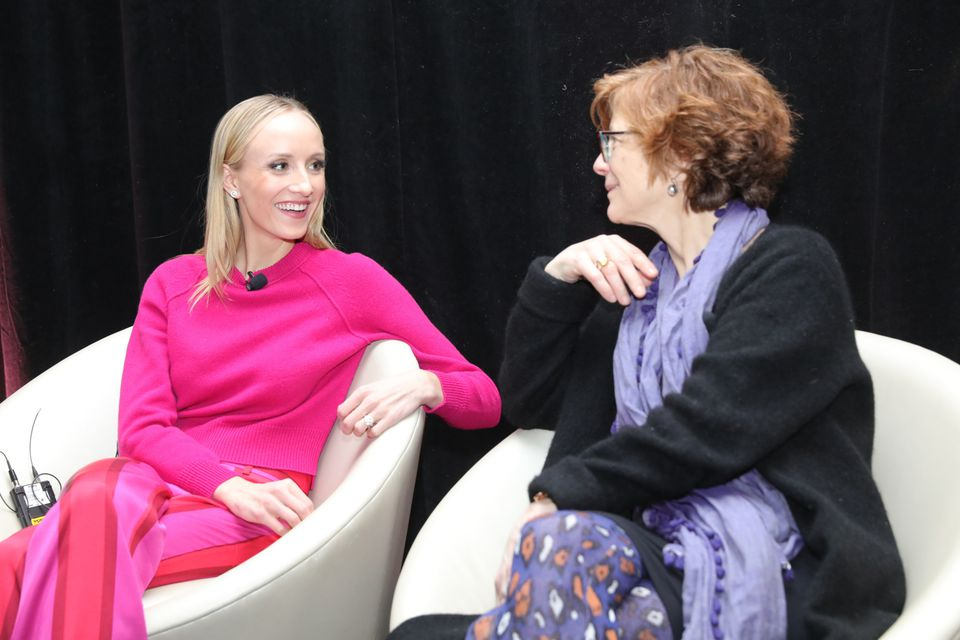 Nastia Liukin (left) and Jody Adams were part of a panel at the W Boston.