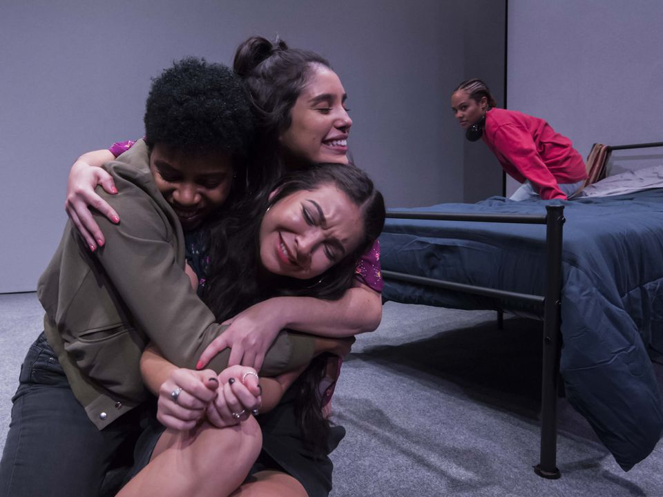 """A scene from """"The Tragic Ecstasy of Girlhood'' at Boston Playwrights' Theatre."""