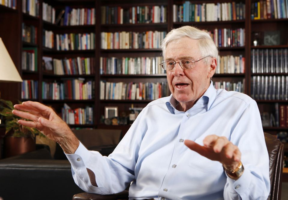 Charles Koch said he has not and probably will not back any Republican in the waning weeks of the primary campaign because of the divisive rhetoric.