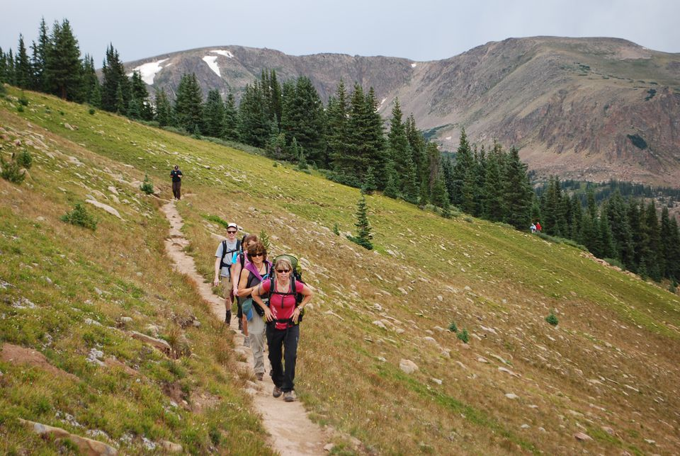 Hikers explored the 10th Mountain Trail System in Colorado