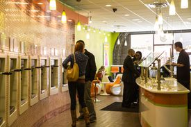 Somerville competitors Orange Leaf (pictured) and iYo distinguish themselves by decor and menu.